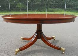 Oval Mahogany Coffee Table Mahogany Pedestal Coffee Table By Charles Barr Sold