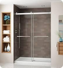 40 Shower Door Fleurco Ng160 25 40 Gemini Frameless Bypass 60 Sliding Shower