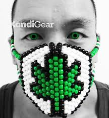 Kandi Mask Rasta Marijuana Weed Kandi Mask Rave Gear U0026 Costume From