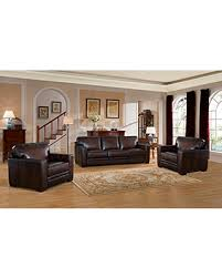 Real Leather Sofa Set by Huge Deal On Amax Leather Chatsworth Three Piece Genuine Leather