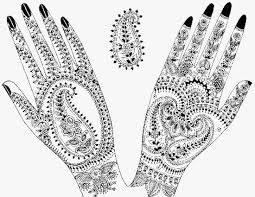 hand with henna drawing makedes com