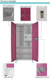 cheap india steel almirah steel bedroom wardrobe design with