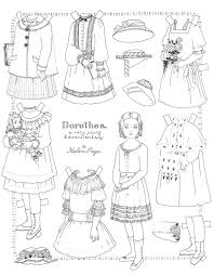 coloring print pages 95 best paper dolls coloring art print pages colouring for adults