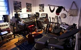 Home Music Studio Ideas by Music Devices Room On White Walls With Best Exclusive Decorating