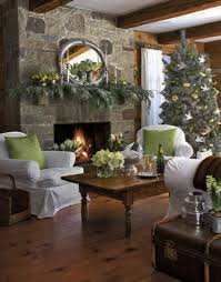 Christmas Decoration Ideas Fireplace Decoration Red Sofa And White Upholstery Coffee Table At Living