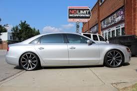 audi slammed audi a8l with vossen wheels no limit inc