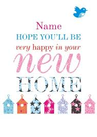 happy home personalised new home card new home