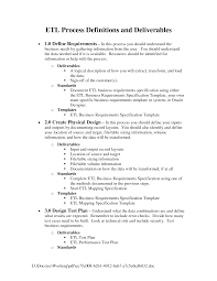Business Requirements Document Template Pdf Data Warehouse Tester Cover Letter