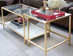 gold glass coffee table awesome glass and gold coffee table popular 4 inspirations