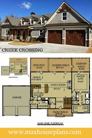 house plan walkout basement plans hillside home plans walkout