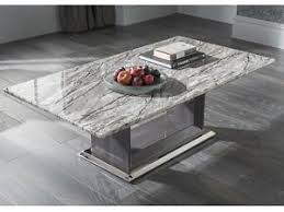 Marble Living Room Tables New Grey Marble Coffee Table Ebay