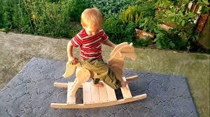 Rocking Horse High Chair Wooden Rocking Horse Montessori Waldorf Toys Ride On Rocking