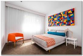 wandbild schlafzimmer wandverkleidung deko akzent bunt schlafzimmer wandbild abstrakt orange