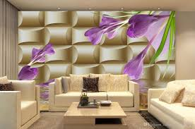 3high quality customize size modern 3d background wall violet 3d