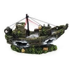 fish tank cave aquarium decoration resin ornament sailing boat