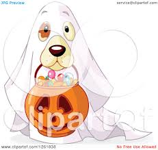 halloween clipart ghost dog dressed as ghost clipart clipartfest
