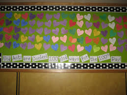 100th day bulletin board and decoration ideas