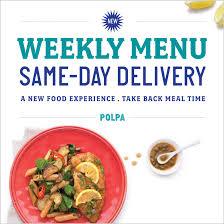 lunch delivery service menu meals to door