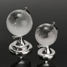 world globe home decor crystal glass frosted world globe paperweight desk decoration