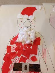 giant santa collage preschooler christmas craft xmas craft ideas