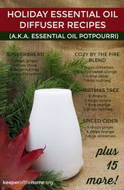 20 holiday essential oil diffuser recipes that will fill your home