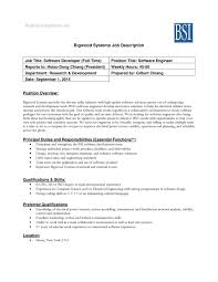 Computer Hardware Engineer Job Description Lead Software Engineer Job Description Example Software Engineer