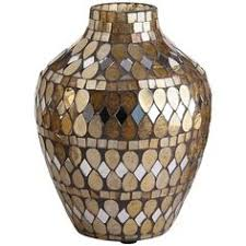 Handmade Home Decor Silver U0026 Gold Mosaic Vase Decor U003e Vases Pinterest Accent