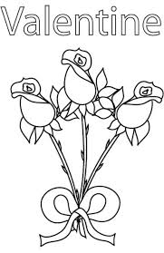 valentine rose coloring pages flower coloring pages of