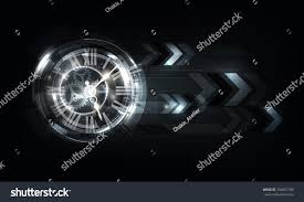 abstract futuristic technology background clock concept stock