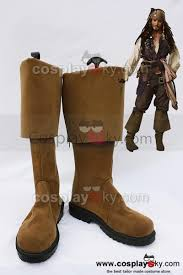 pirates of the caribbean jack sparrow cosplay boots shoes au