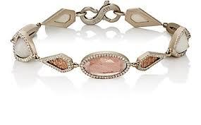gemstone link bracelet images Monique p an mixed gemstone geometric link bracelet barneys new york