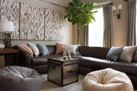 living room design with brown leather sectional iammyownwife com