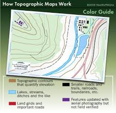 how to read topographic maps topographic map lines colors and symbols topographic map