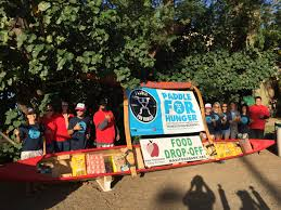 donate food for thanksgiving maui now paddle for hunger raises record breaking 8 000 for