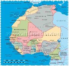 africa map senegal west africa and morocco route maps