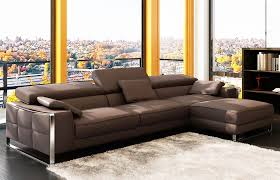 Black Leather Sectional Sofas Modern Leather Sectionals U0026 4pc Modern Euro Design Black Leather
