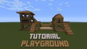 minecraft how to build a playground tutorial youtube