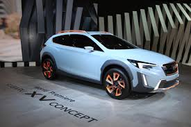 subaru crosstrek lifted blue subaru xv concept unveiled at 2016 geneva motor show evo