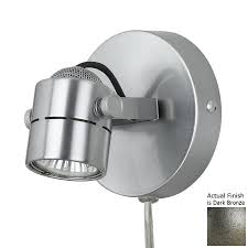 Plug In Wall Lighting Shop Cal Lighting W 1 Light Dark Bronze Arm Wall Sconce At Lowes Com