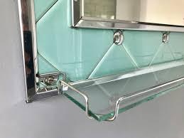 vintage retro bathroom mirror with shelf 344 vinterior