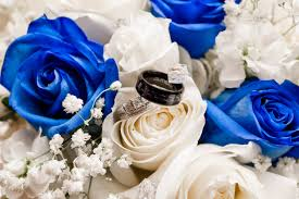 silver and royal blue wedding blue white and silver wedding flowers at abigail u0027s garden in