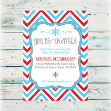 luxury viewing holiday party invitation card for with blue