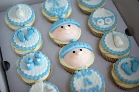 baby boy shower cupcakes boy s baby shower cake with cupcakes bakealous