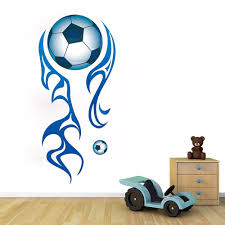 large football wall stickers football lounge wall decals boys