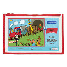 amazon com mudpuppy on the train pouch puzzle for ages 2 to 4