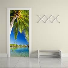 popular decorating palm trees buy cheap decorating palm trees lots lake palm trees 3d wall sticker art decor vinyl removable mural poster scene window door decoration