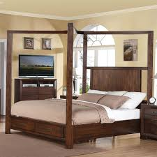 Wood Canopy Bed Canopy Bed With Storage Ideas Vine Dine King Bed