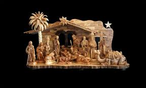 decorating cute nativity sets in cream theme for christmas