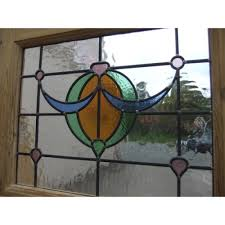 1930 edwardian stained glass exterior door the bow