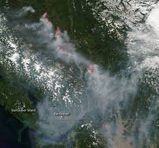 Wildfire Smoke Seattle by Bc Wildfire Smoke Looks Massive From Outer Space